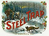 Steel Trap Brand Cigar Box Label - Hunting (12x18 Art Print, Wall Decor Travel Poster)