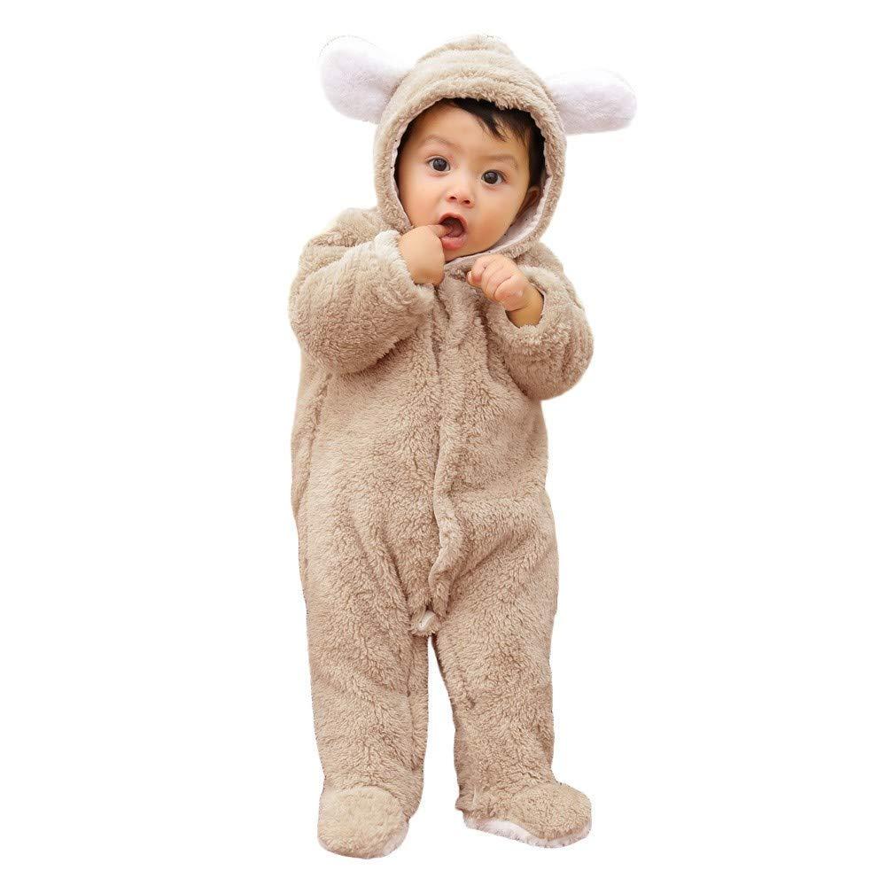 Pyjama Bebe Fille 0-24 Mois Hiver Body Bebe Manche Longue Automne DAY8 Vetement Bebe Gar/çon Naissance Pas Cher Survetement Combinaison Barboteuse Bebe Gar/çon Capuche de Ours Grenouill/ère B/éb/é Fille