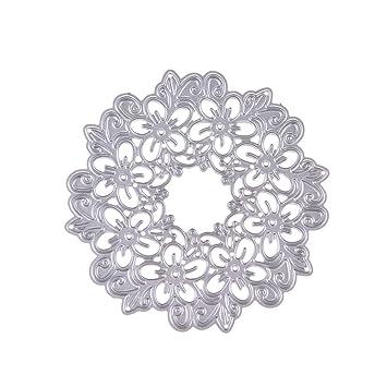 GerTong - Plantillas de Corte en Relieve con diseño de Flor Hueca de Metal en Forma