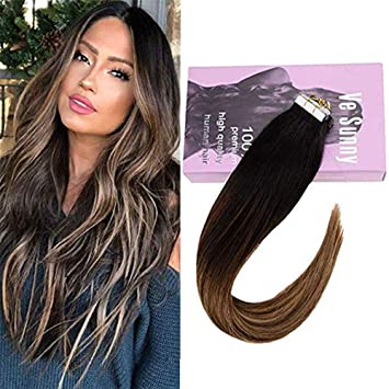 Amazon Com Vesunny 22 Balayage Tape In Extensions Color