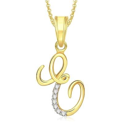 Meenaz Fashion Jewellery Valentine Gifts Meenaz Gold Plated  E  Letter  Pendant Locket Alphabet Heart c273b43c683