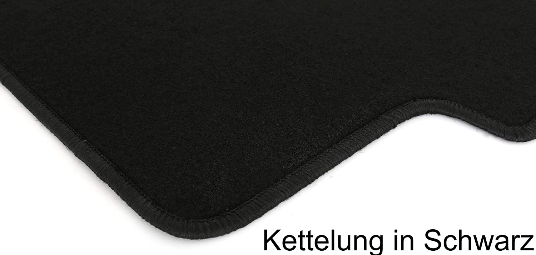 Negro KG Terciopelo Ajuste felpudos Set AD Tuning GmbH /& Co