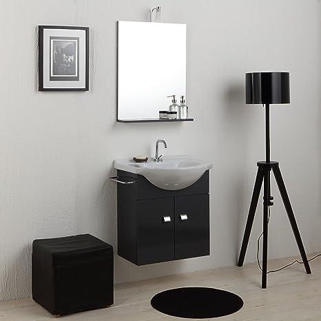 Meuble salle de bain économique de 58cm avec lavabo Miroir ...