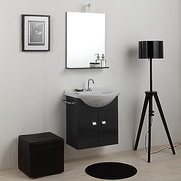 Meuble salle de bain économique de 58cm avec lavabo Miroir et ...