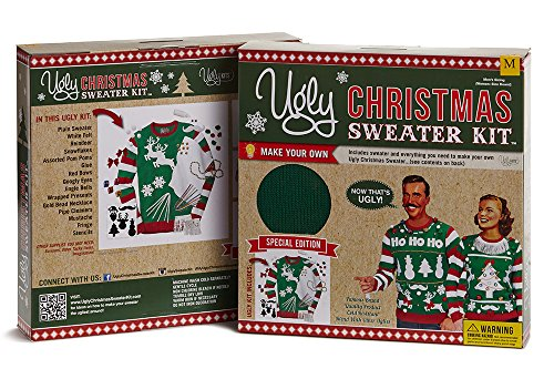 Ugly Christmas Sweaters Unisex Kit, Emerald, -