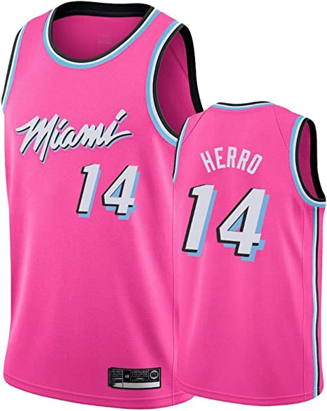 AMJUNM Hombre Mujer Ropa de Baloncesto Miami Heat 14# Herro Bordado Chaleco de Baloncesto: Amazon.es: Deportes y aire libre