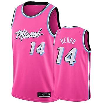 AMJUNM Hombre Mujer Ropa de Baloncesto Miami Heat 14# Herro Jersey ...