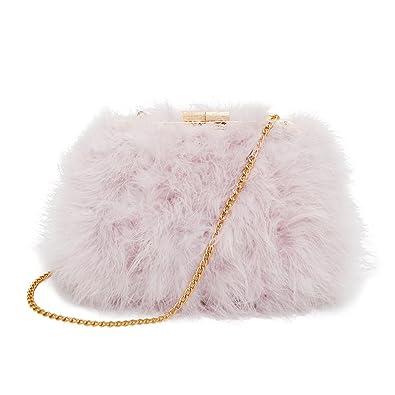Zarapack Womens  Faux Fur Fluffy Feather clutch Shoulder Bag  Amazon.co.uk   Shoes   Bags e08a95c2caf0f
