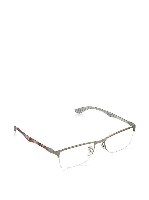 c6c85498c9b Amazon.com  Ray Ban eyeglasses RX8413 2852 Carbon Fiber Anthracite - Red   Shoes