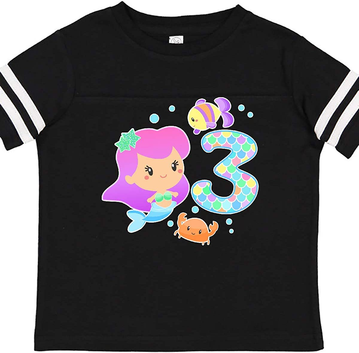 inktastic Birthday Mermaid with Fish and Crab Infant Creeper