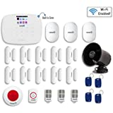 Fortress Security Store- Total Security Wi-Fi Kit B DIY Wireless Security Alarm System for Business and Home : SIM card, Wi-Fi, Landline compatible ,Remote Monitoring- No Contracts