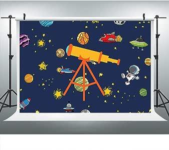 Telescopio astronómico Planetas fotografía telón de Fondo
