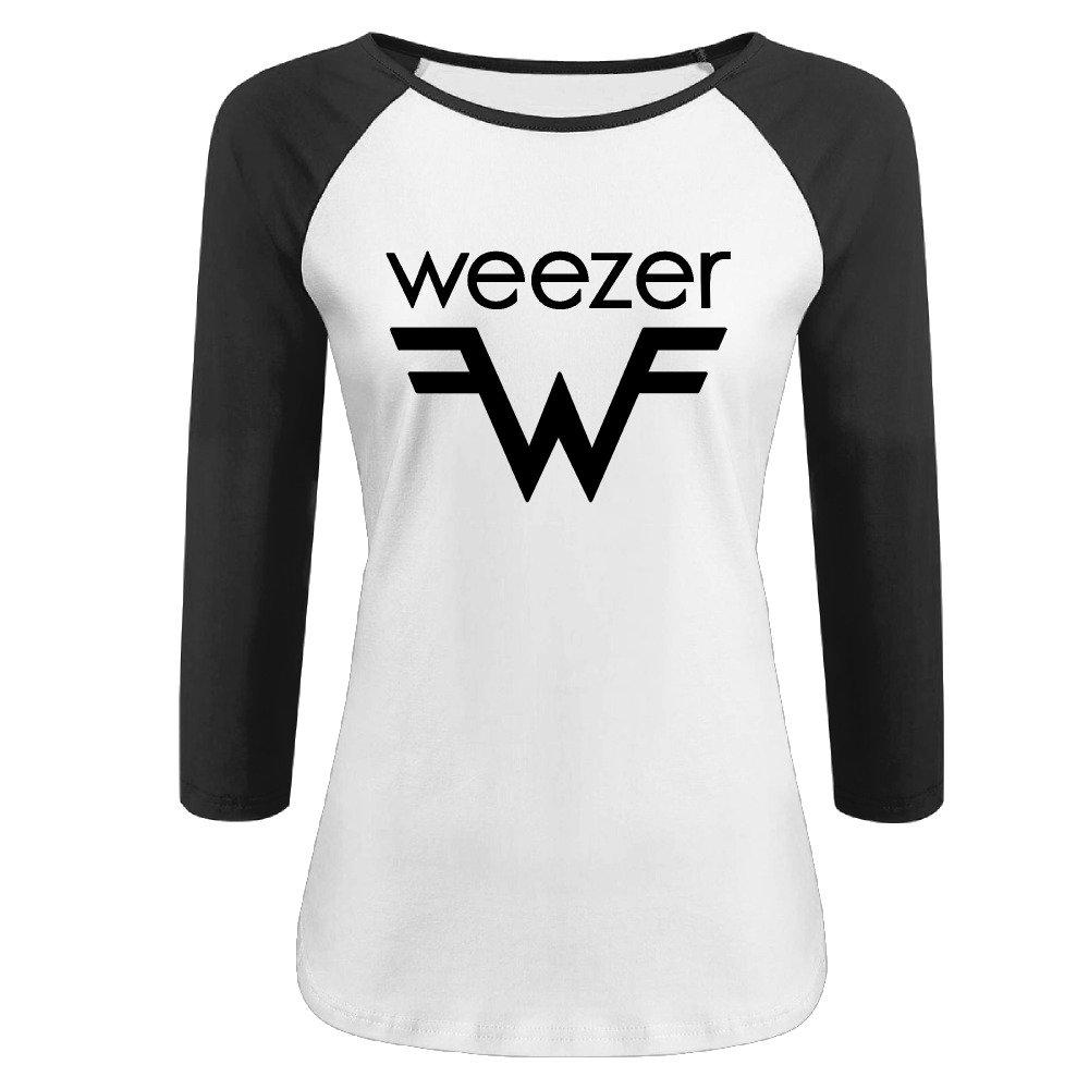 Pung Weezer Band Logo 3 4 Sleeves Baseball T Shirt M 9331