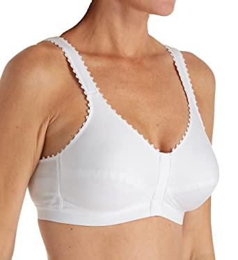 33371adda3 Royce 1010 Women s Everyday Comfi-Bra White Non-Wired Pocketed Mastectomy Front  Fastening Bra