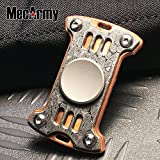 GP1 Titanium Fidget Spinner, Hand Excise, Relieves Stress and Anxiety, MecArmy (Copper+Damascus steel)