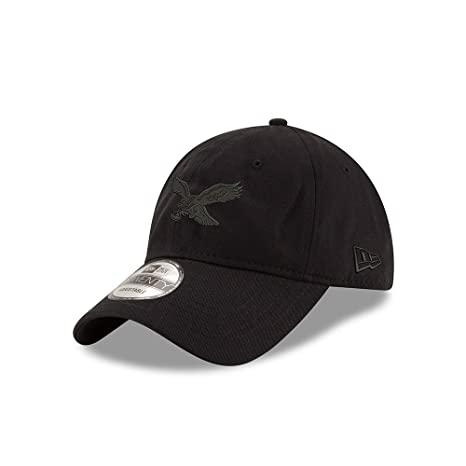 Image Unavailable. Image not available for. Color  Philadelphia Eagles  Classic Throwback Black on Black 9TWENTY Adjustable Hat ... 8bd8cbade