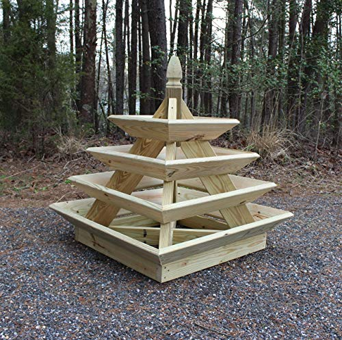 4 ft. Strawberry Pyramid Woodworking Plans. DIY Instruction guide includes photos at every -