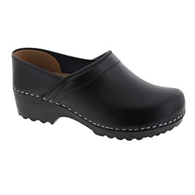 Bjork Ken Swedish Men's Pro Black Smooth Leather Clogs | Mules & Clogs