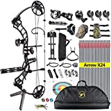 ANTSIR Trigon Compound Bow Kit for Adult,19-70Lbs 19'-30' Archery Hunting Equipment 320fps,CNC Milling Bow Right Hand
