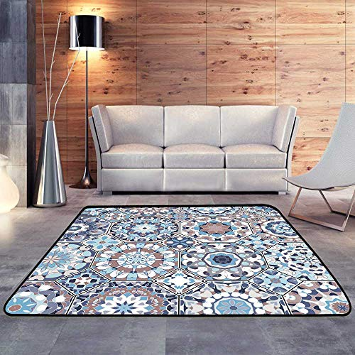 Bedroom Rugs,Set of Octagonal and Square Patterns W 47