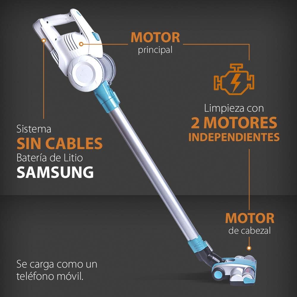 GRIDINLUX – Aspirateur balai sans fil. Batterie rechargeable