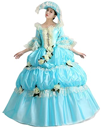 FENIKUSU Womenu0027s Gothic Victorian Fancy Dress Prom Palace Masquerade Ball Gown Costume (S Dress  sc 1 st  Amazon.com & Amazon.com: FENIKUSU Womenu0027s Gothic Victorian Fancy Dress Prom ...