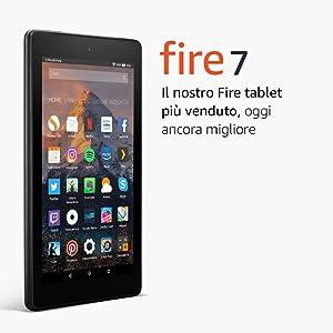 """Tablet Fire 7, schermo da 7"""", 8 GB, (Nero) - con offerte speciali (7ª generazione - modello 2017)"""