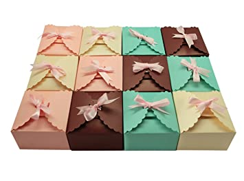 Amazon missshorthair gift boxes12 pack solid color missshorthair gift boxes12 pack solid color decorative boxes for small giftsfavor boxes negle Image collections
