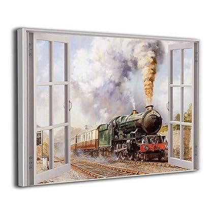 Amazon com: Linda Woodrow 3D Window View Royal Duchy Train