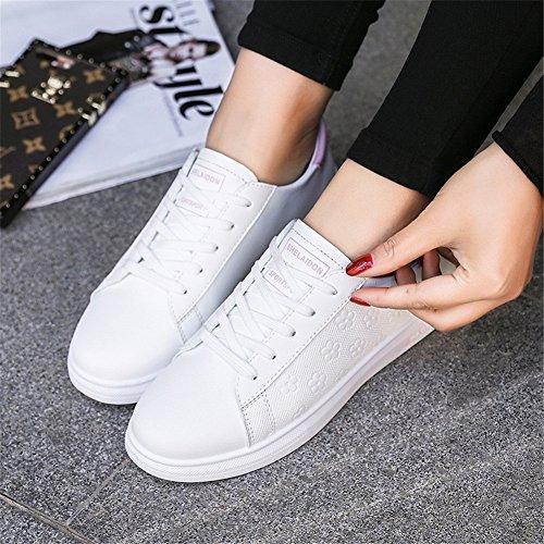 Bianca Bianco B Lace Polvere Merletto Nero Outdoor Sneakers Autunno Xue Donna Primavera Casual Comfort Scarpe up Da Viaggio Calzature Pu nxT8fqa
