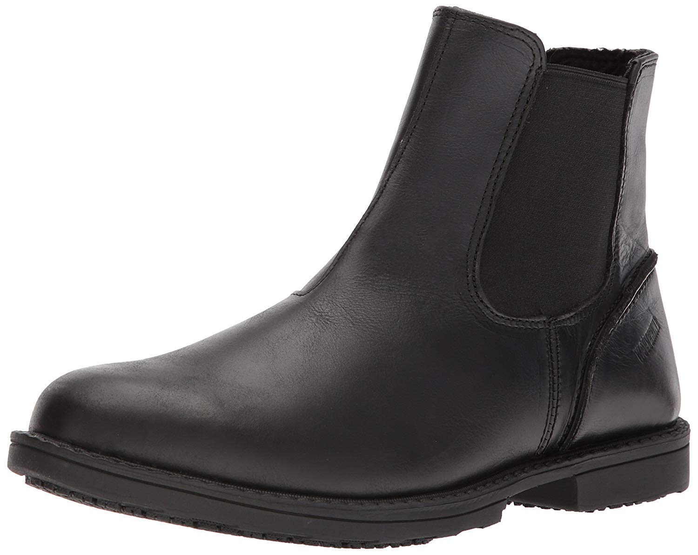 Wolverine Men's Bedford Soft-Toe SR Chelsea Boot, Black, 9 Extra Wide US