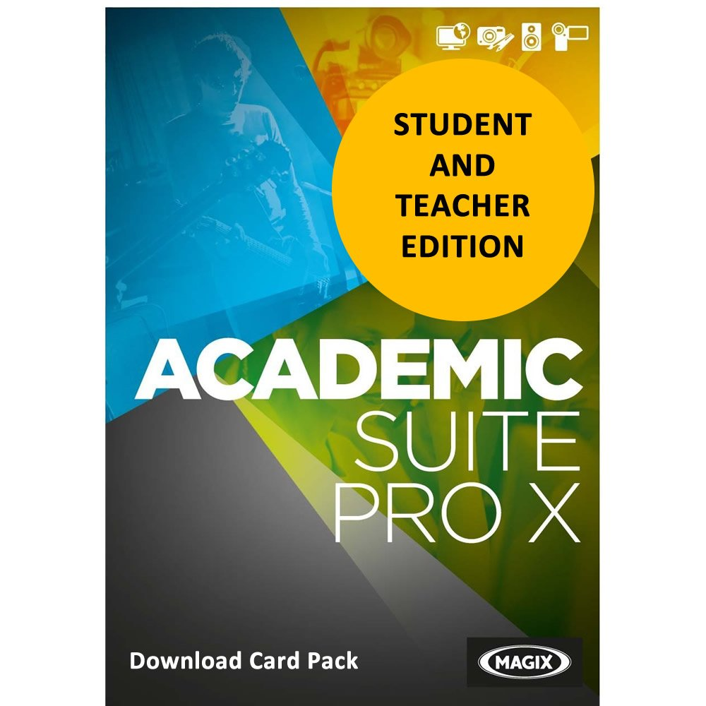 MAGIX Academic Suite Pro X for Students & Teachers [Download Card] by Genesis MGX