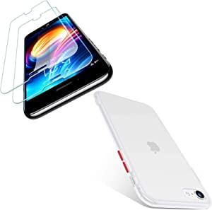 TORRAS Shockproof Designed for iPhone SE 2020 Case White & iPhone SE 2020 Screen Protector