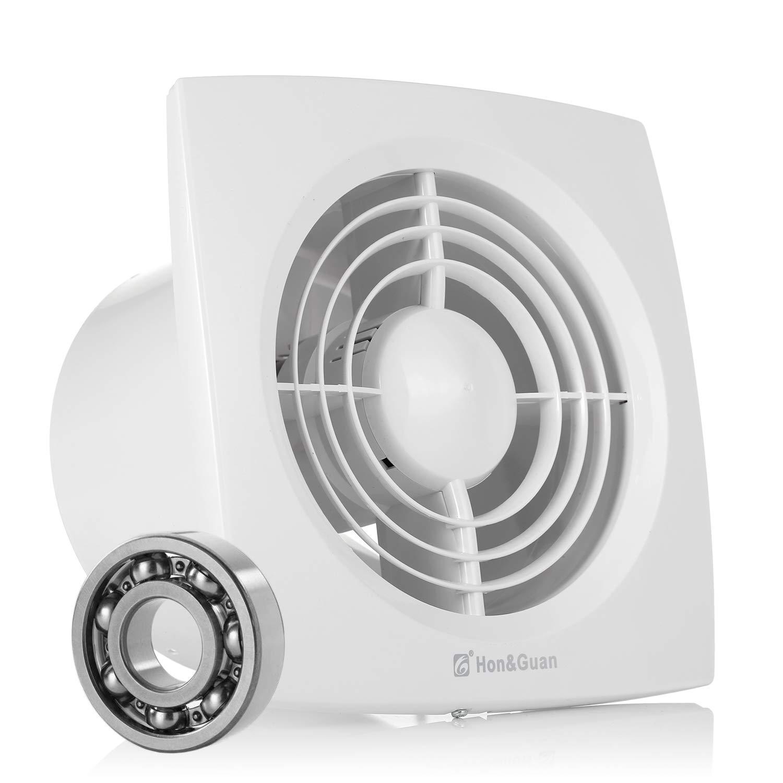Ventilateur d'extraction, Hon&Guan 150mm Ventilateur Silencieux Extracteur d'air pour Salle de Bain/Chambre / Bureau (D-150mm) product image
