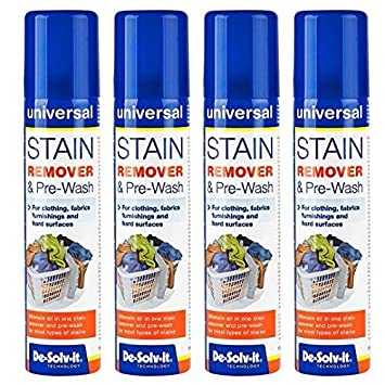 4 x de-solv-it ® DESOLVIT quitamanchas y Prelavado Spray 100 ML para Ropa, favrics, Muebles y Superficie Dura: Amazon.es: Hogar