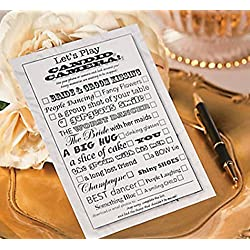 Candid Camera Wedding Game, Wedding Photo Prompt Card