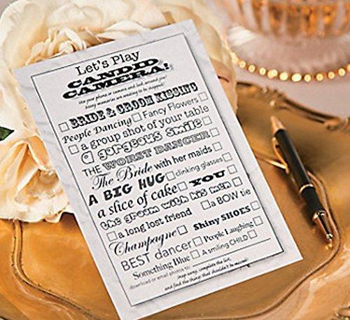 Fun Express Candid Camera Wedding Game, Wedding Photo Prompt Card