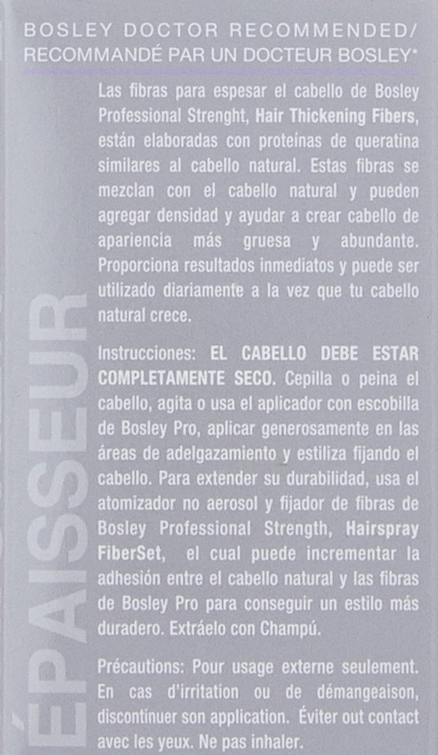 Amazon.com: Bosley solidez profesional pelo volumen fibras ...