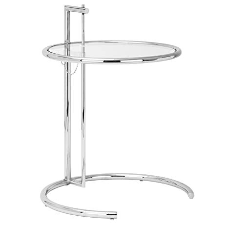 Poly And Bark Eileen Gray Side Table, Silver