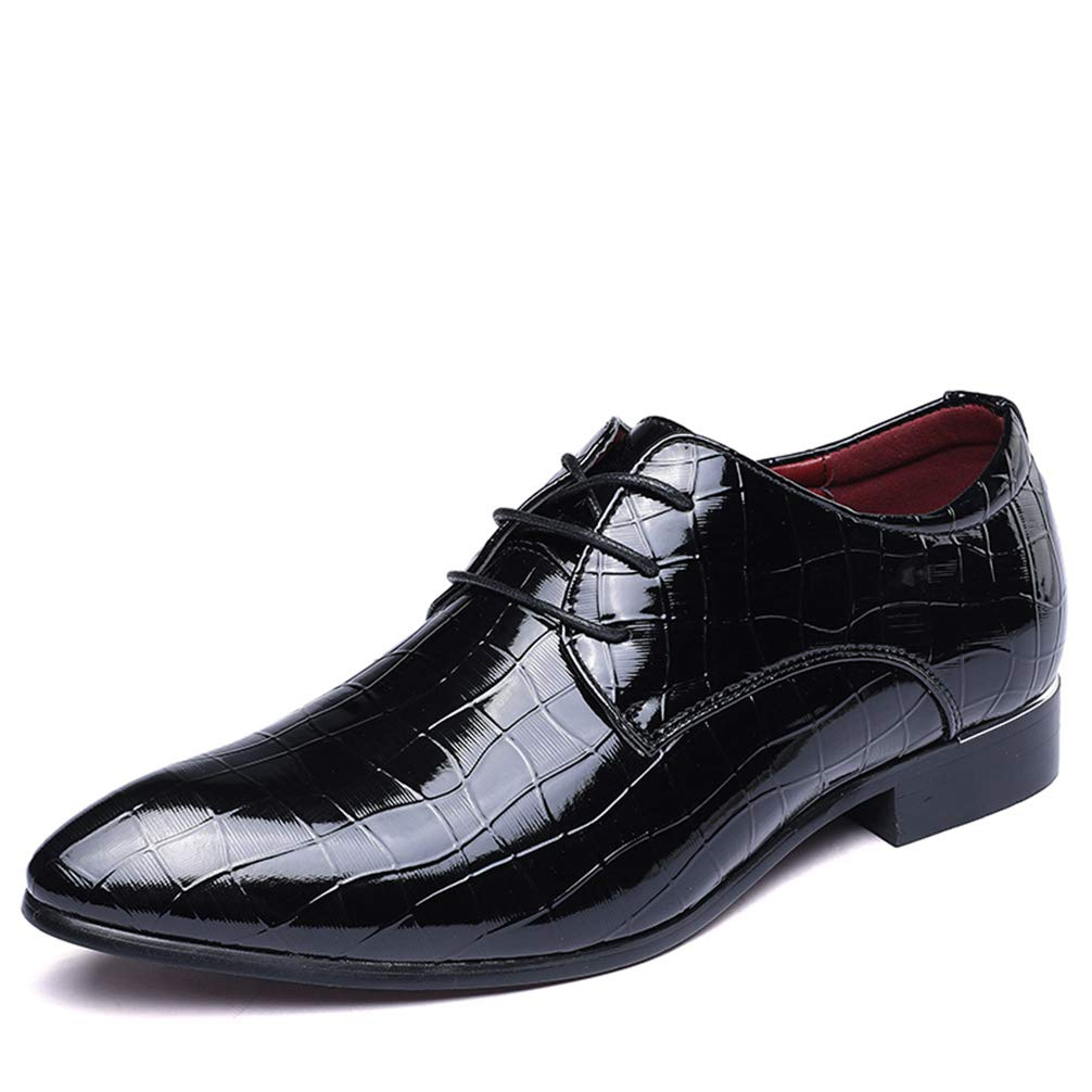 Phil Betty Men's Business Dress Shoes Lace-Up Classic Flats Casual Oxford Shoes