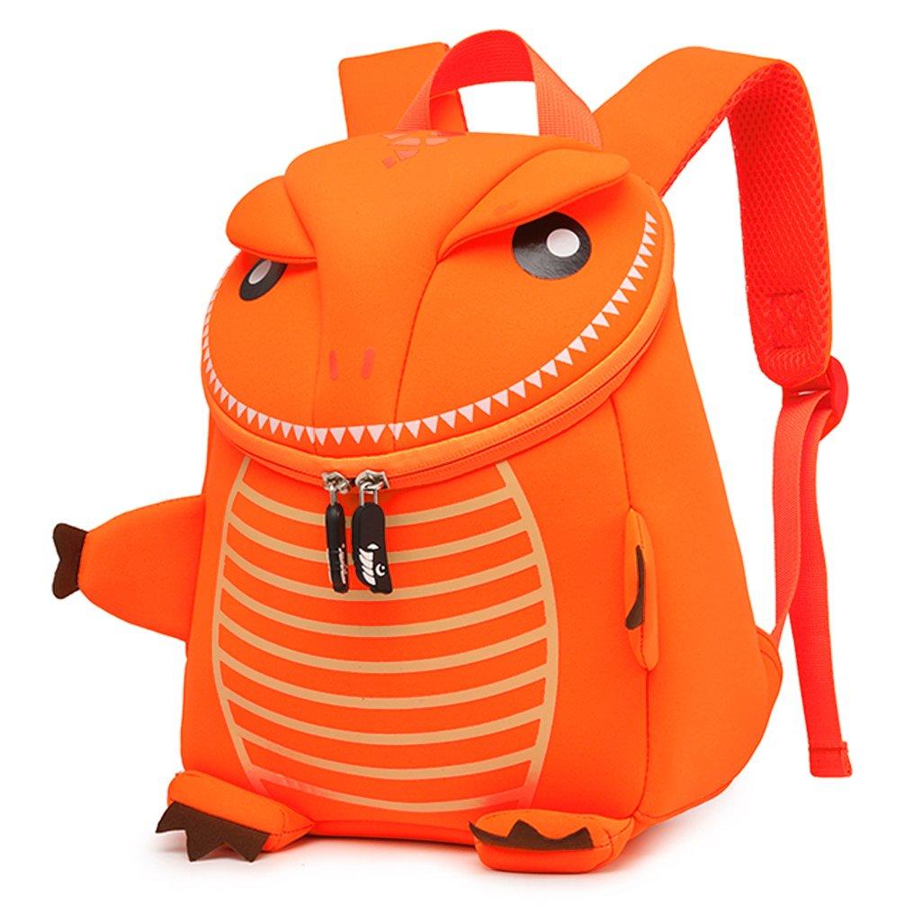 Little Toddler Kids Backpack for Preschool Cartoon Travel Dinosaur Daycare Diaper Snacks Neoprene Bag by Domoos