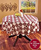 country kitchen table decor KNL Store Linda Spivey Kitchen Decor Table Cloth Linens Primitive Country Hearts Stars Table-Cloth or Napkins Kitchen Collection, Round, 70