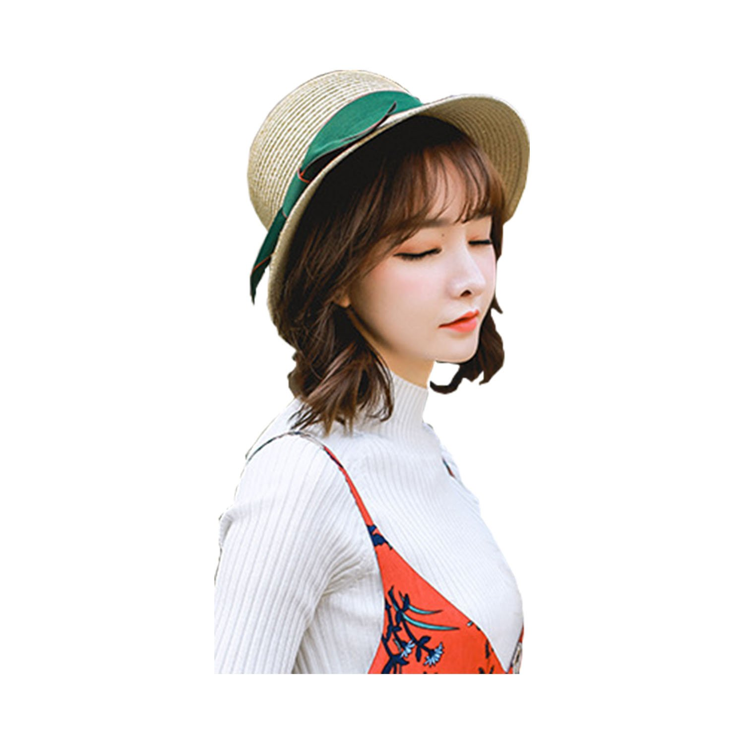BOW Womens Sun Hat Summer Beach Hat Topee for Travel Fishing Hiking
