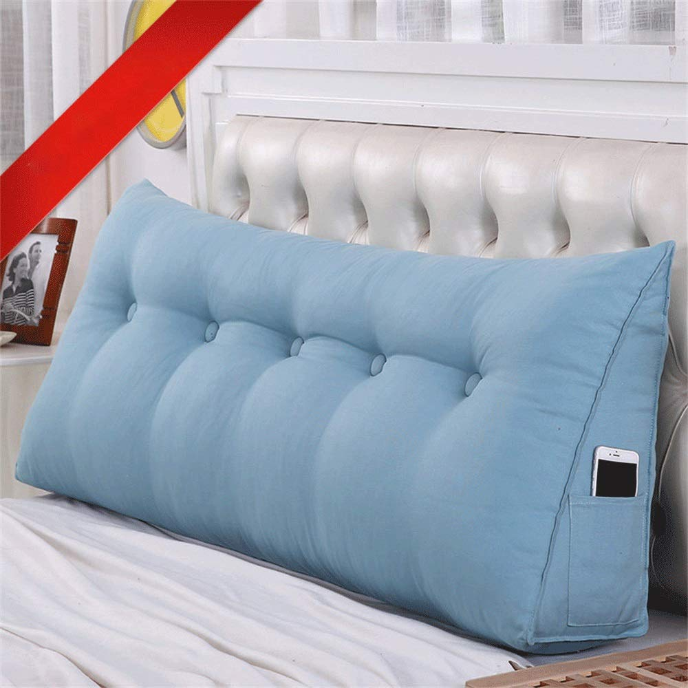 GLP ベッドクッショントライアングルラージバックソフトケースピローウエストピロー洗えるベッドサイドダブルベッドルーム枕漫画、19色&7サイズ (Color : L, Size : 120X50X20cm) B07QZ2PKRJ