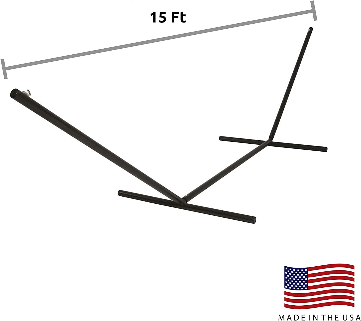 Hatteras Hammocks 15 ft. Tri-Beam Steel Hammock Stand Black