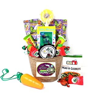 Amazon plants vs zombies toy and candy easter gift basket plants vs zombies toy and candy easter gift basket your brains are egg cellent negle Choice Image