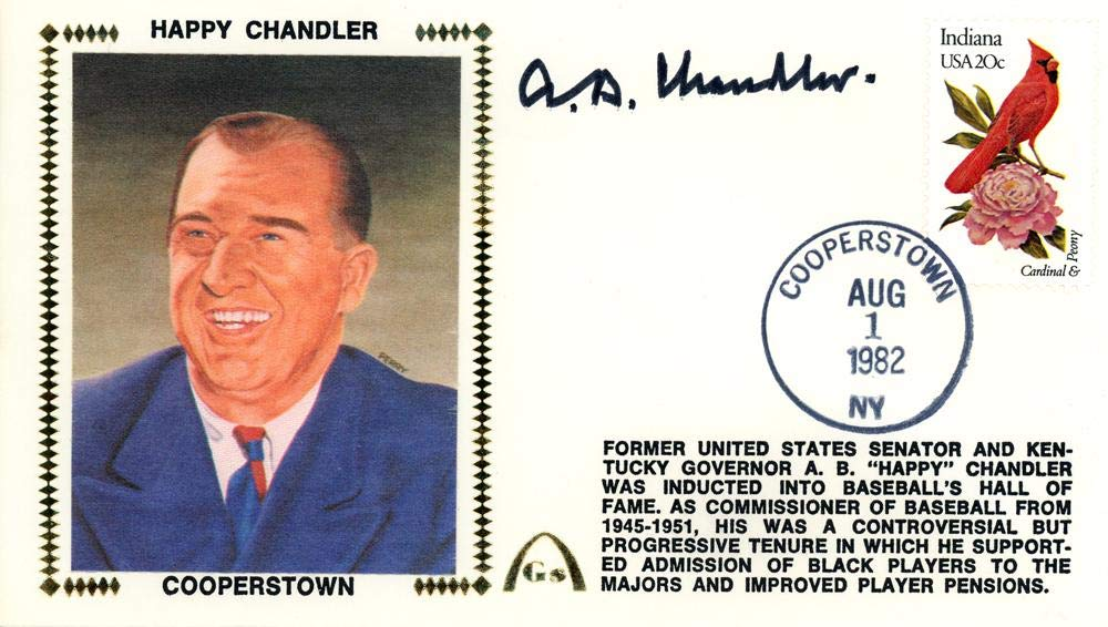 A.B. AB'Happy' Chandler Autographed First Day Cover Commissioner Beckett BAS #E48807 - Beckett Authentication Mill Creek Sports