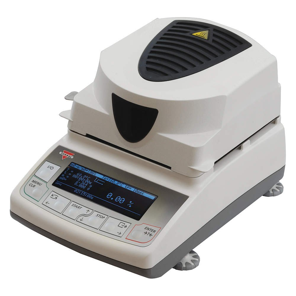 4 Drying Modes 120g x 0.001g USB Interface 160C 0.01/% Readability Compact Design Backlit Graphical LCD Display Torbal ATS120 Moisture Analyzer
