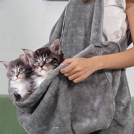 QNMM Delantal de Gato con Bolsillo Consiga íntimo con Sus Mascotas ...