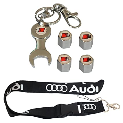 Nueva 1pcs Audi llavero Lanyard Badge Holder + una llave ...